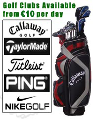 Golf Club Rental from 10 per day